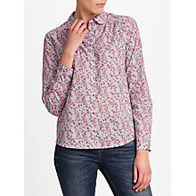 Buy Collection WEEKEND by John Lewis Ditsy Print Shirt, Blue/Pink Online at johnlewis.com