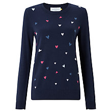 Buy Collection WEEKEND by John Lewis Heart Intarsia Jumper, Navy/Multi Online at johnlewis.com