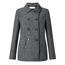 Buy John Lewis Herringbone Pea Coat Online at johnlewis.com