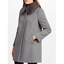 Buy John Lewis Jenny Coat, Mid Grey Online at johnlewis.com