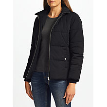 Buy John Lewis Short Padded Puffer Jacket, Black Online at johnlewis.com