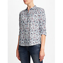 Buy Collection WEEKEND by John Lewis Floral Garden Bird Print Shirt, Multi Online at johnlewis.com