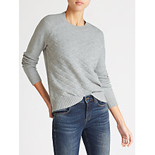 Buy Collection WEEKEND by John Lewis Textured Front Sweater, Grey Online at johnlewis.com