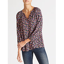 Buy Collection WEEKEND by John Lewis Paint Brush Floral Top, Multi Online at johnlewis.com