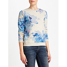 Buy Collection WEEKEND by John Lewis Waterflower Sweatshirt, Grey/Blue Online at johnlewis.com