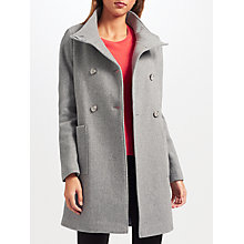 Buy John Lewis Double Breasted Funnel Neck Twill Coat Online at johnlewis.com
