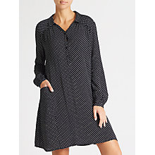 Buy Collection WEEKEND by John Lewis Micro Floral Print Shirt Dress, Black/White Online at johnlewis.com