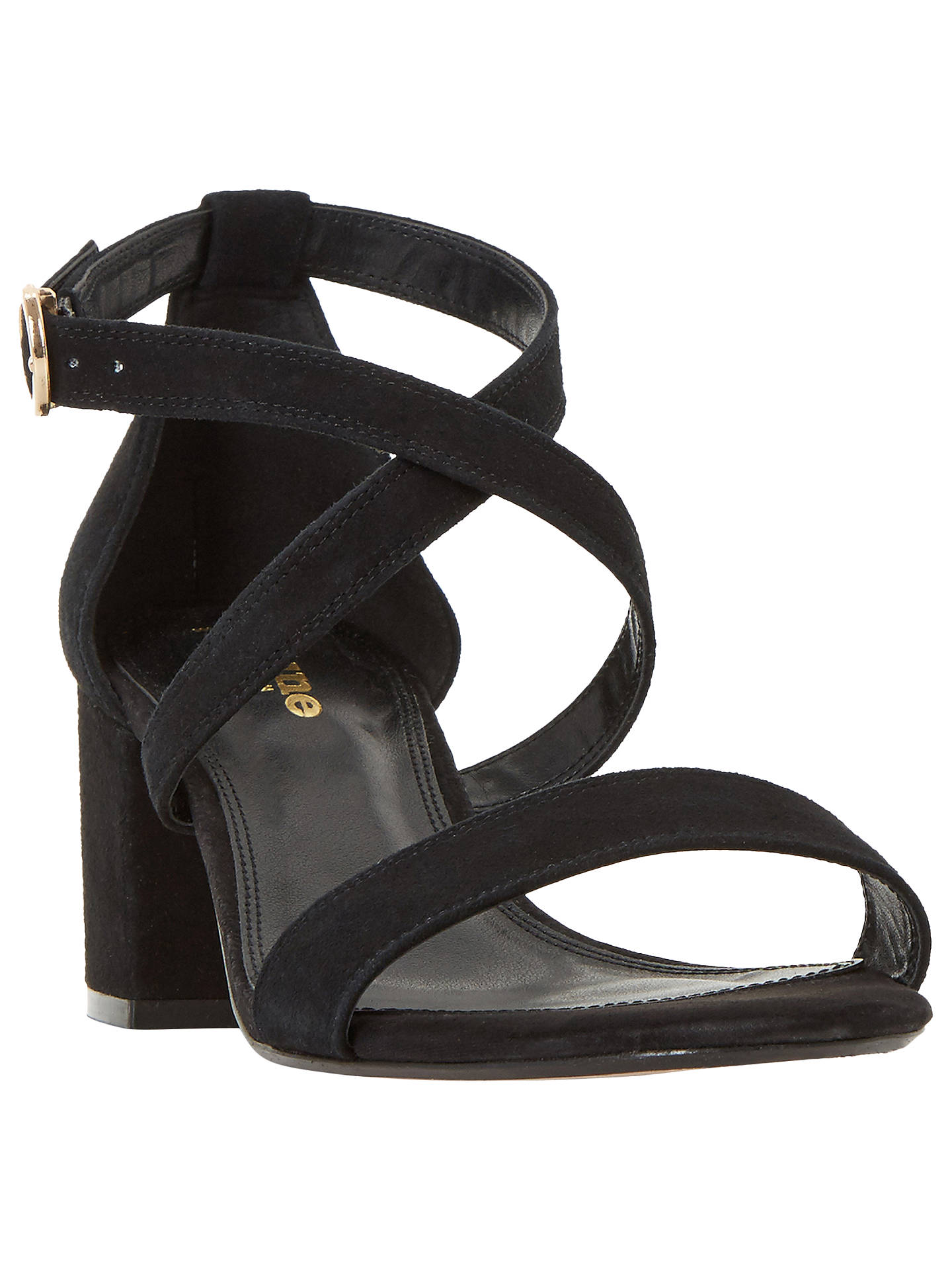 374e24226530 Dune Wide Fit Montie Cross Strap Block Heeled Sandals at John Lewis ...
