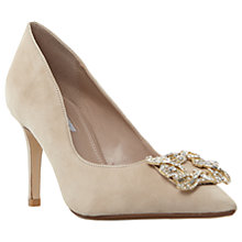 Buy Dune Wide Fit Betti Embellished Stiletto Heeled Court Shoes, Nude Online at johnlewis.com