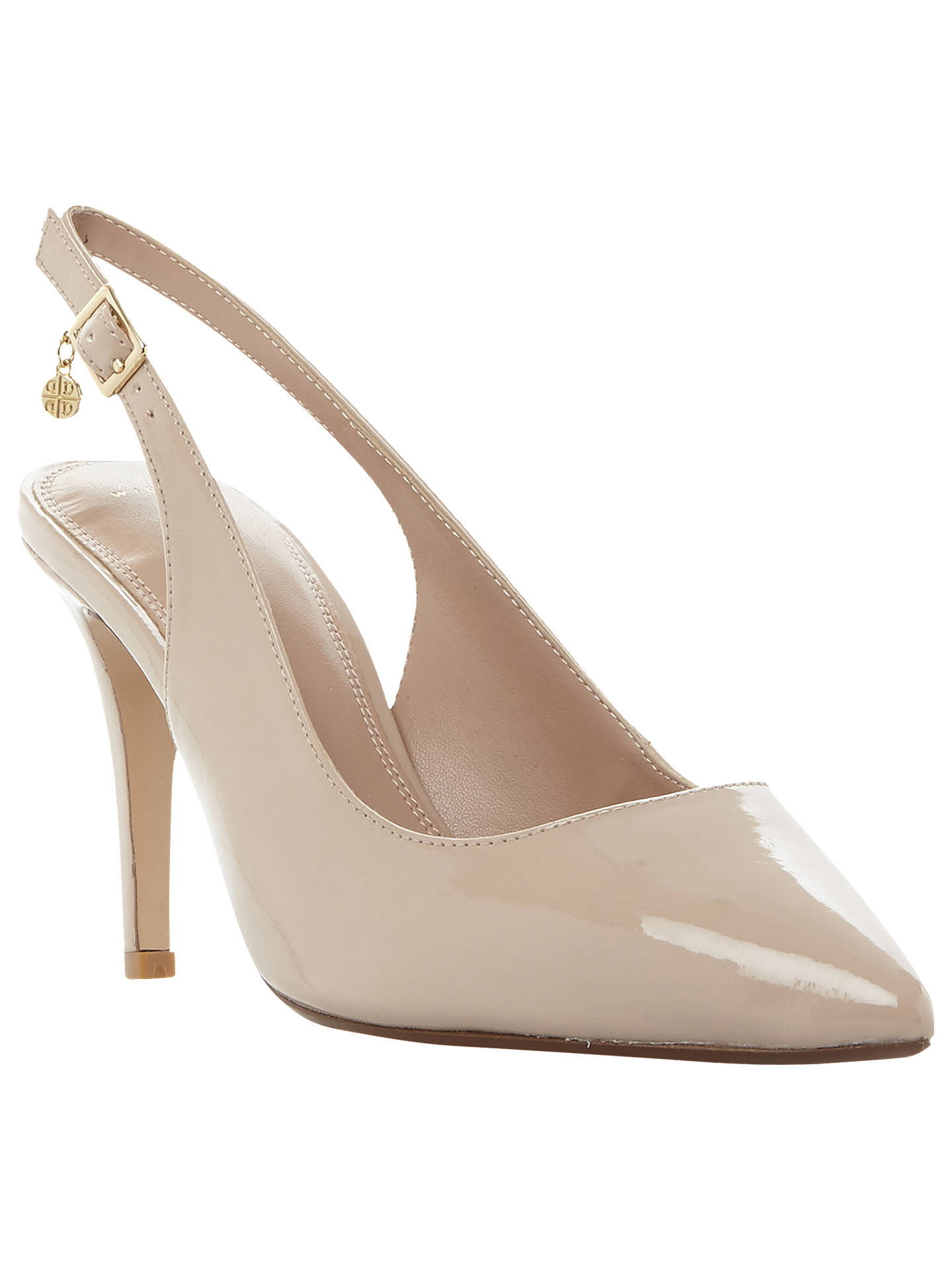 44ccee866a Buy Dune Wide Fit Cathy Slingback Stiletto Court Shoes, Nude, 5 Online at  johnlewis ...
