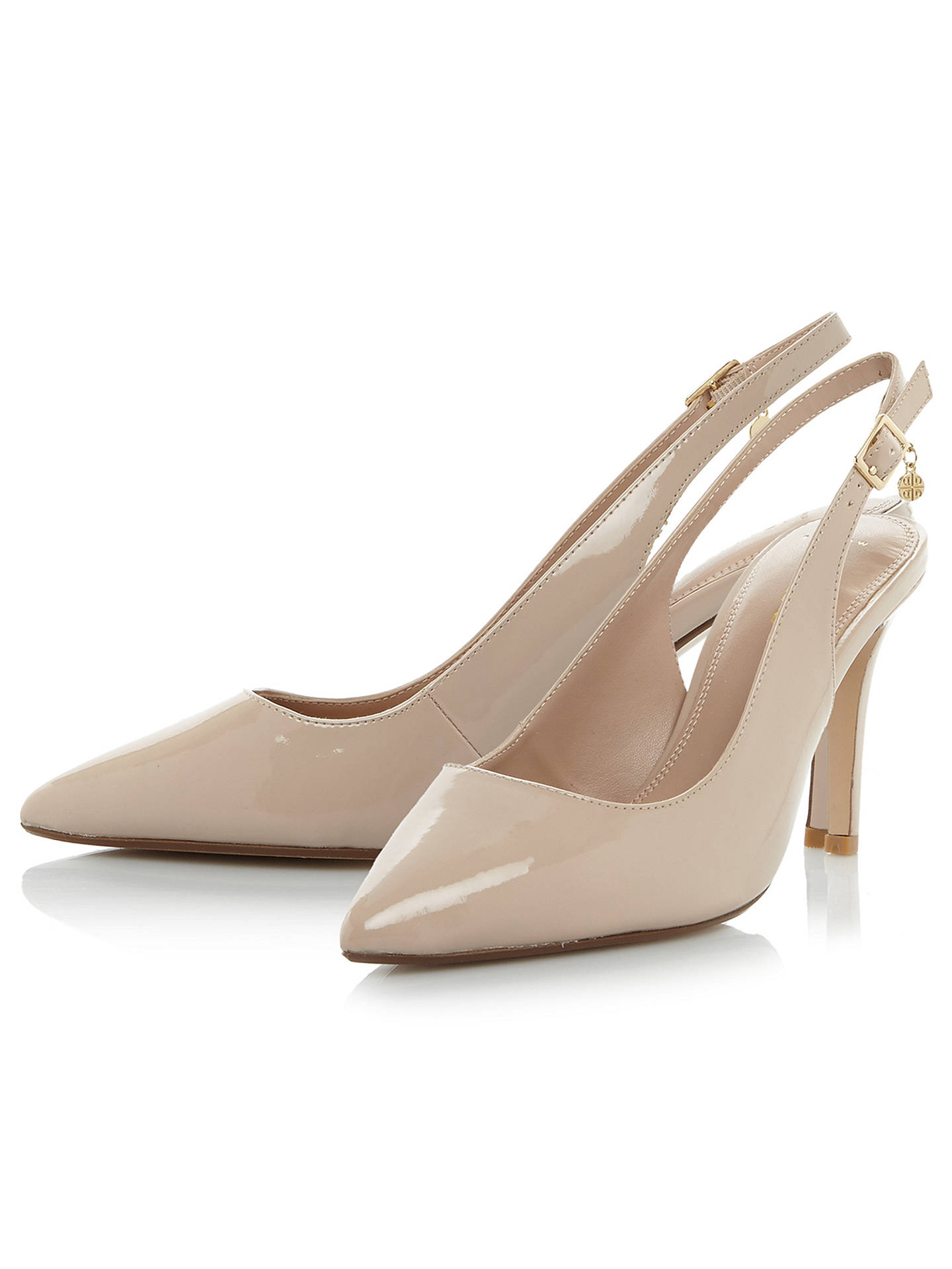 a4f11bbe4f ... Buy Dune Wide Fit Cathy Slingback Stiletto Court Shoes, Nude, 5 Online  at johnlewis ...