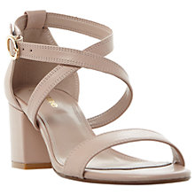Buy Dune Wide Fit Montie Cross Strap Block Heeled Sandals Online at johnlewis.com