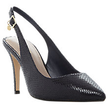 Buy Dune Wide Fit Cathy Slingback Stiletto Court Shoes Online at johnlewis.com