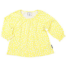Buy Polarn O. Pyret Baby Floral Tunic Top, Yellow Online at johnlewis.com