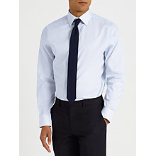 Buy John Lewis Fine Stripe Tailored Fit Shirt, Blue Online at johnlewis.com