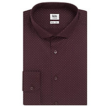 Buy Kin by John Lewis Polka Dot Slim Fit Shirt, Burgundy Online at johnlewis.com