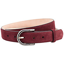 Buy Thomas Pink Suede Belt, Red Online at johnlewis.com