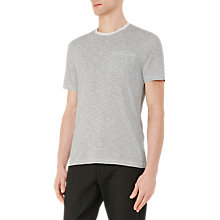 Buy Reiss Braga Stripe Pocket T-Shirt, Navy Online at johnlewis.com