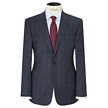 Buy Richard James Mayfair Windowpane Check Slim Suit Jacket, Airforce Online at johnlewis.com