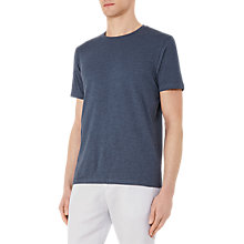 Buy Reiss Barney Textured Cotton T-Shirt, Steel Blue Online at johnlewis.com
