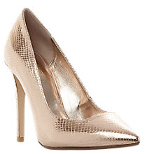 Buy Dune Wide Fit Aiyana Stiletto Court Shoes, Rose Gold Online at johnlewis.com