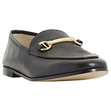 Buy Dune Guilt Loafers, Black Online at johnlewis.com