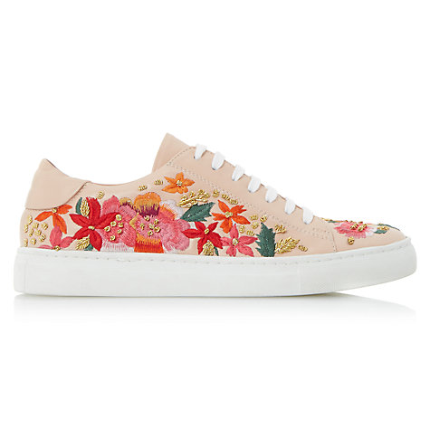 Buy Dune Evanna Embroidered Lace Up Trainers Online at johnlewis.com