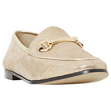 Buy Dune Guilt Loafers, Gold Online at johnlewis.com