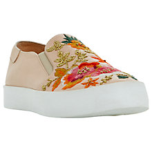 Buy Dune Evanni Embroidered Slip On Trainers Online at johnlewis.com