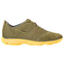 Buy Geox Nebula Trainers, Musk/Yellow Online at johnlewis.com