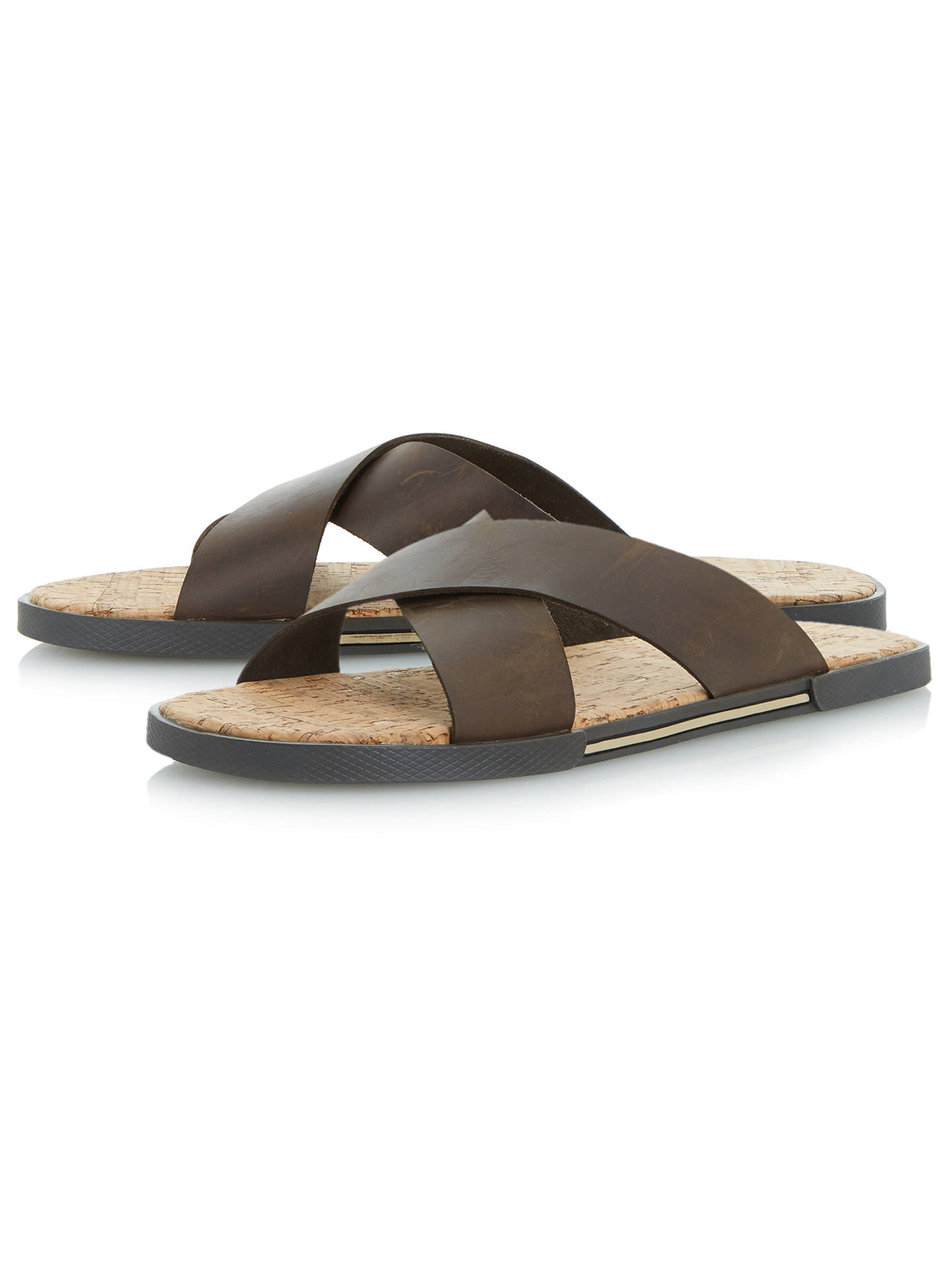 BuyDune Idaho Leather Sandals, Brown, 7 Online at johnlewis.com