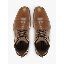 Buy Dune Captain Toecap Boots, Tan Online at johnlewis.com