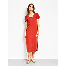 Buy hush Valerie Jersey Dress, Washed Red Online at johnlewis.com