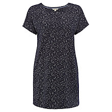 Buy White Stuff Tosin Jacquard Jersey Tunic, Ink Pot Blue Online at johnlewis.com