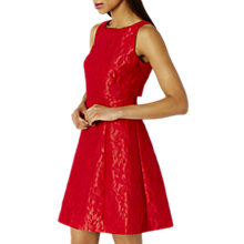 Buy Coast Betsie Lou Textured Dress, Fuchsia Online at johnlewis.com