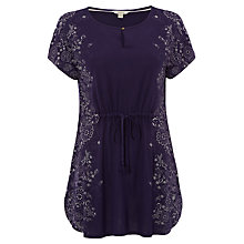 Buy White Stuff Summer Flow Jersey Tunic, Navy Online at johnlewis.com