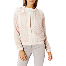 Buy Coast Havana Lace Bomber Jacket, Blush Online at johnlewis.com