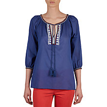 Buy Gerard Darel Corfou Blouse, Blue Online at johnlewis.com