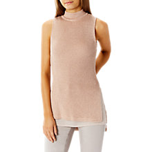 Buy Coast Rosa Sleeveless Knitted Top, Blush Online at johnlewis.com