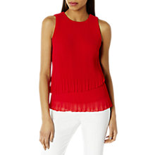 Buy Coast Rhiona Pleated Top, Fuchsia Online at johnlewis.com