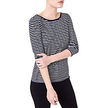Buy Precis Petite 3/4 Sleeve Stripe Top, Navy/White Online at johnlewis.com