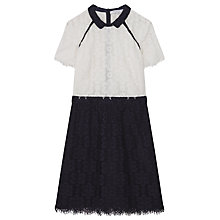 Buy Gerard Darel Blue Canelle Dress, Navy/Multi Online at johnlewis.com