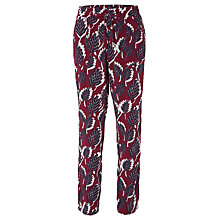 Buy White Stuff Coastal Printed Trousers, Wine/Multi Online at johnlewis.com