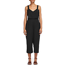 Buy Whistles Lucy Strappy Tierred Jumpsuit, Black Online at johnlewis.com