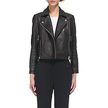 Buy Whistles Cara Clean Crop Jacket, Black Online at johnlewis.com