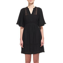 Buy Whistles Tori Fringe Dress, Black Online at johnlewis.com