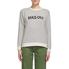 Buy Whistles Mais Oui Stripe Jumper, Black/White Online at johnlewis.com