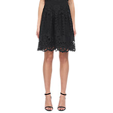 Buy Whistles Cutwork Lace Skirt, Black Online at johnlewis.com