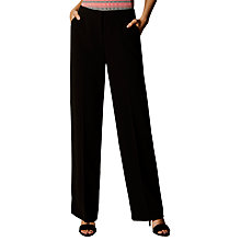Buy Karen Millen Modern Tailoring Wide Legged Trousers, Black Online at johnlewis.com