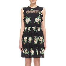 Buy Whistles Brianna Lace Insert Dress, Black/Multi Online at johnlewis.com